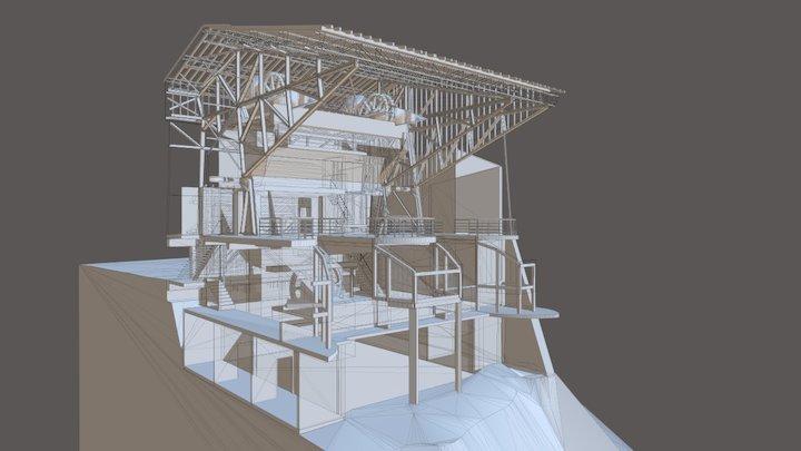 Ancienne Gare telepherique des Prodains 3D Model