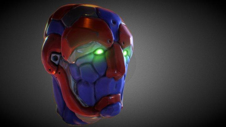 Space Robot Head 3D Model
