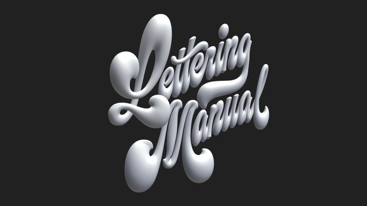 Lettering Manual cover graphic 3D Model