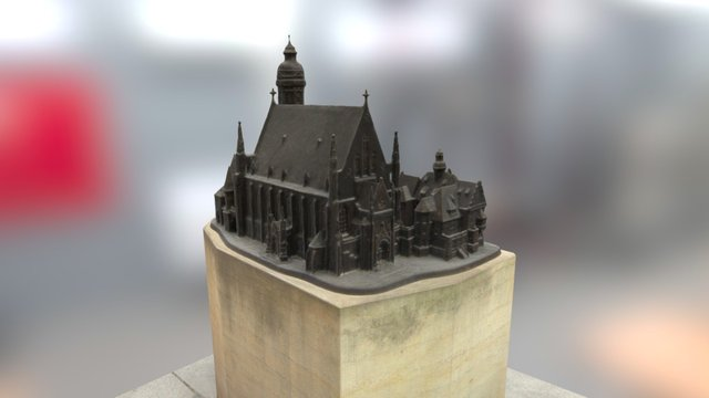 Bronze Modell Thomaskirche Leipzig 3D Model
