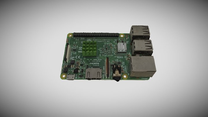 Raspberry Pi 3D Model