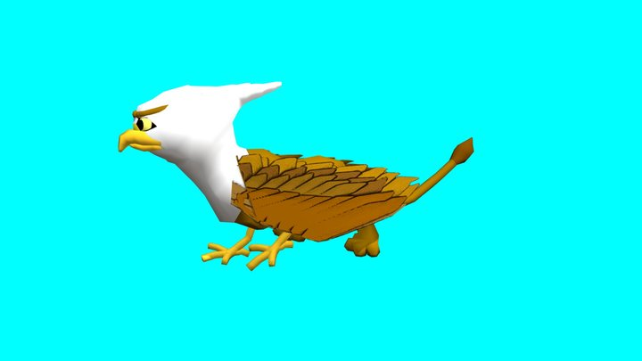 Gryphon Rigged and Animated 3D Model
