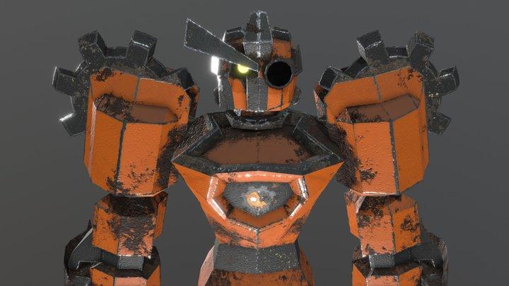 OrangeaRobot 3D Model