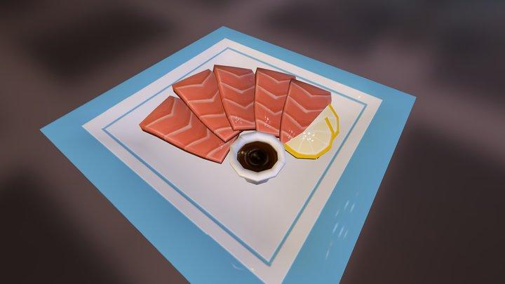 Low Poly Sashimi 3D Model