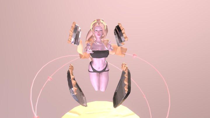 Angelic Paladin Posed 3D Model