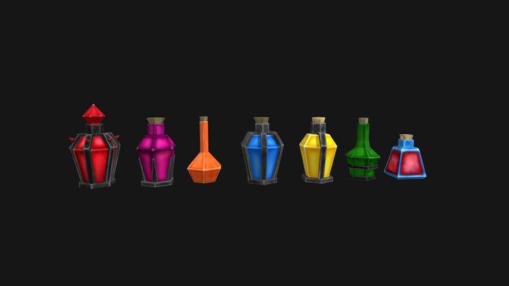Potions 3D Model