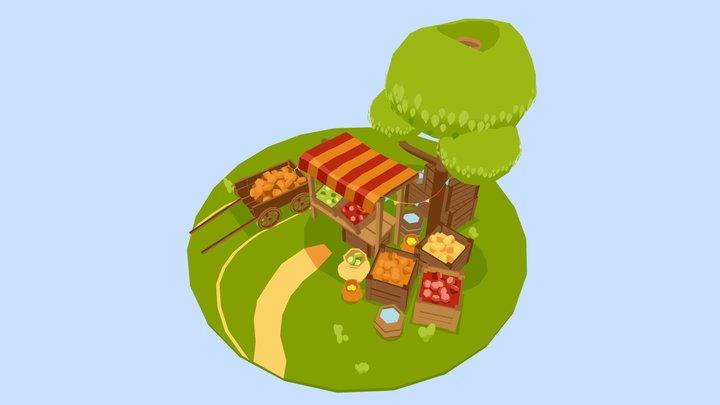 Little fruit store 3D Model