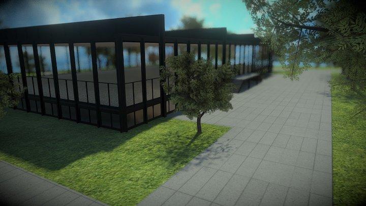Crown Hall de Ludwig Mies van der Rohe 3D Model