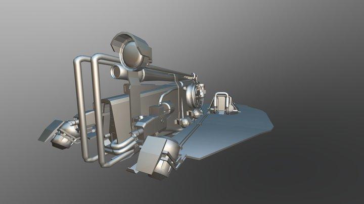 Scutum Hovercraft (matcap version) 3D Model