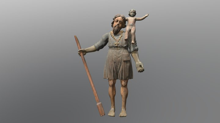 """The Great Kristaps"" sculpture 3D scan 3D Model"