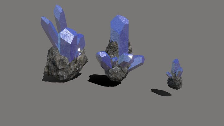 Set crystals in the breed 3D Model