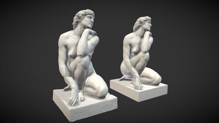 The Goddess by artist José Clara 3D Model