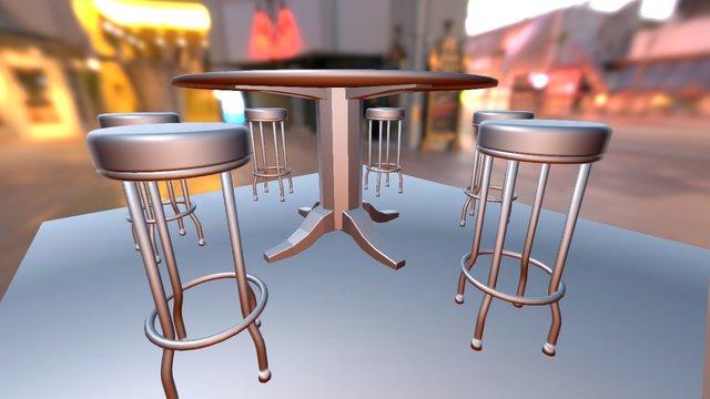 Lounge Table Set 3D Model
