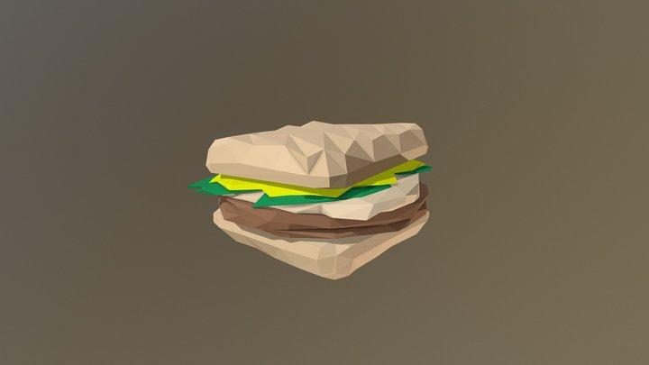 Low-Poly Sandwich 3D Model