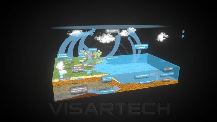 Carbon Cycle 3D Model