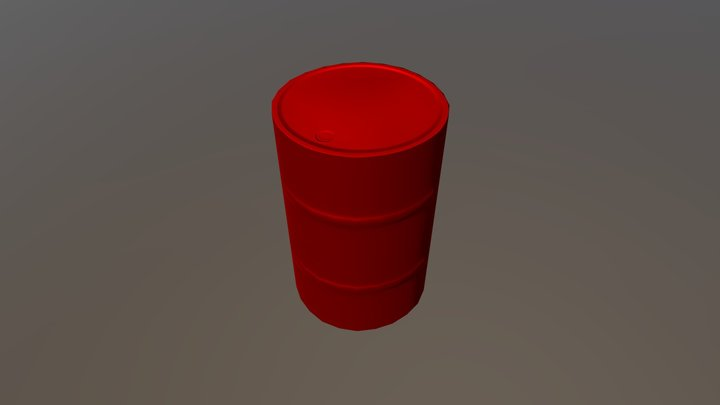Metal Barrel | Low Poly - Game Ready 3D Model