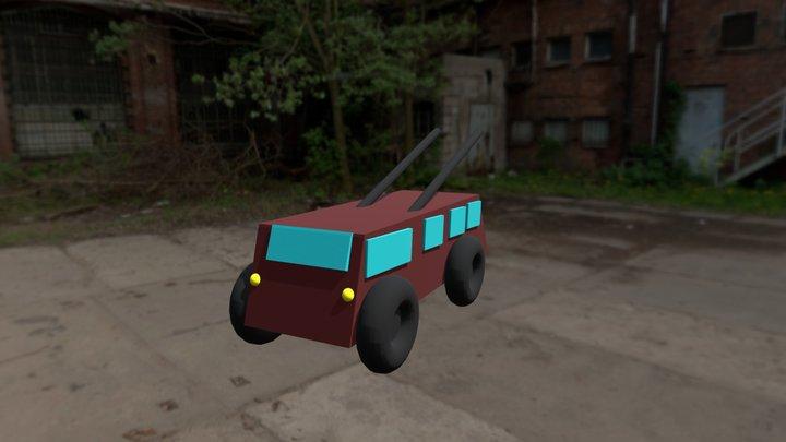 Trolley Bus 3D Model