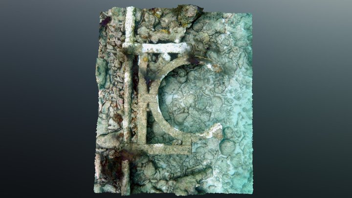 French Reef Totten Beacon - Letter G Detail 3D Model