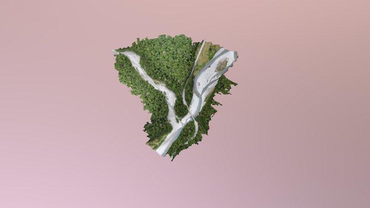 Makarora Side stream_simplified_3d_mesh 3D Model