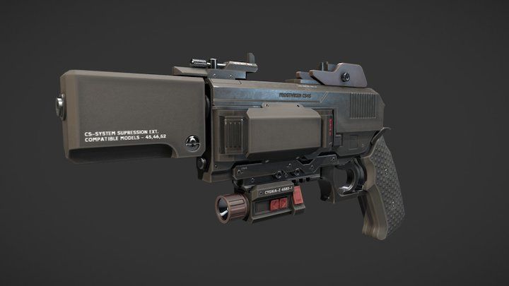 Sidearm 3D Model