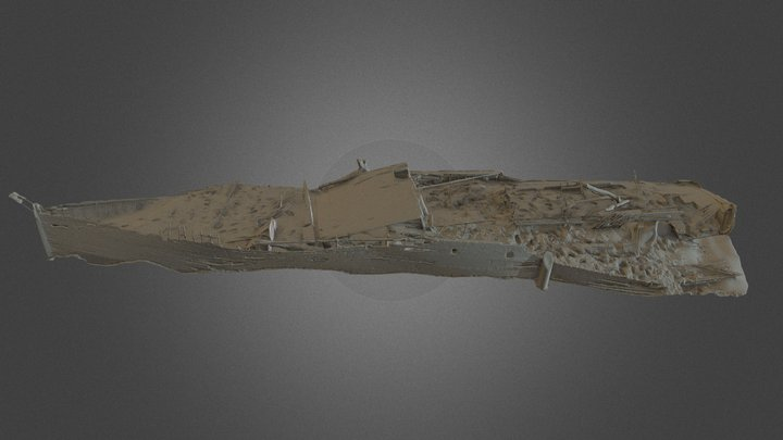 The Eothen. WW1 submarine chaser. Thames. London 3D Model