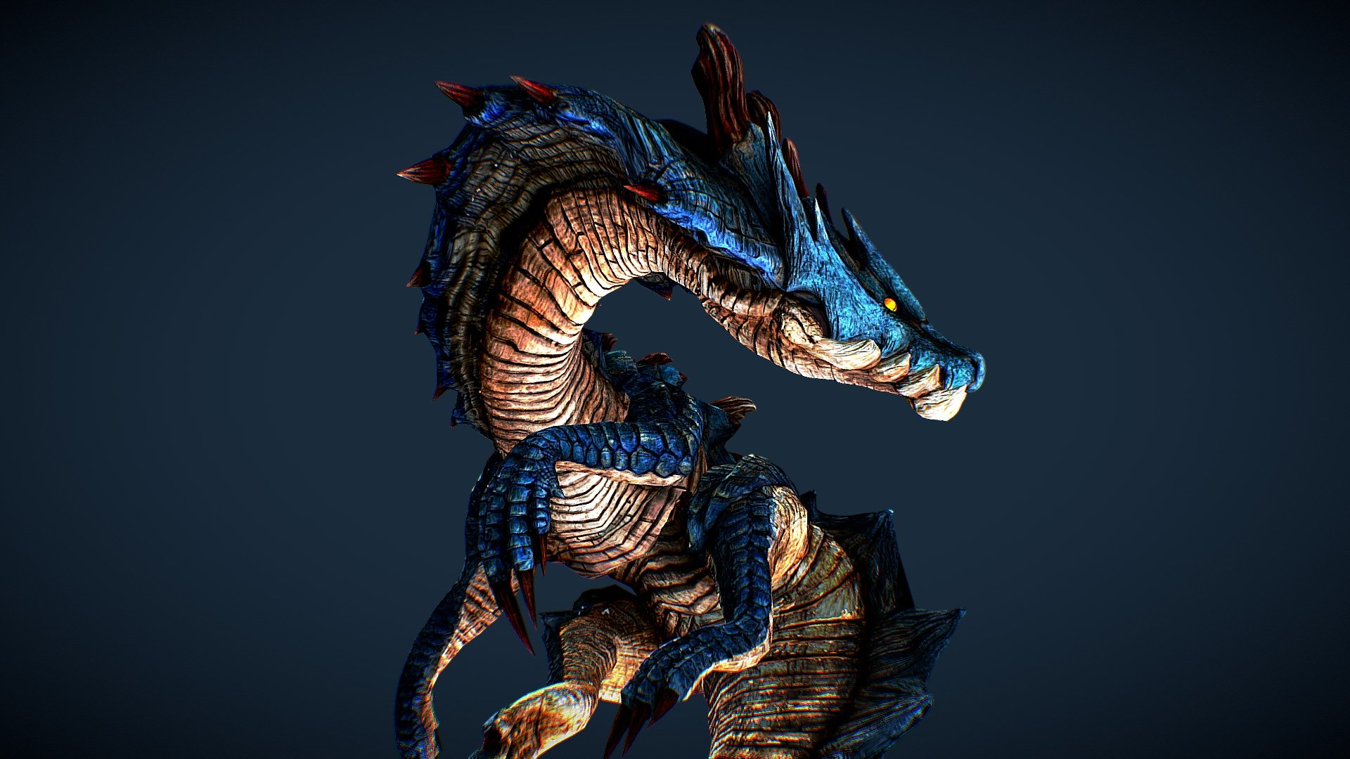 Monster Hunter Lagiacrus 3d Model By Jet Ong Jet Ong 0cf3f8e Sketchfab Lagiacrus is more difficult in the water. monster hunter lagiacrus 3d model by