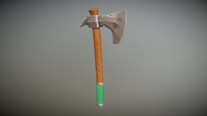 Stylized Axe for Unamed game project 3D Model