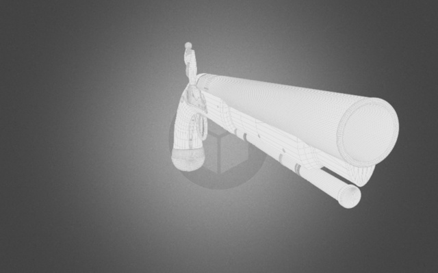 Flintlock Gun 3D Model