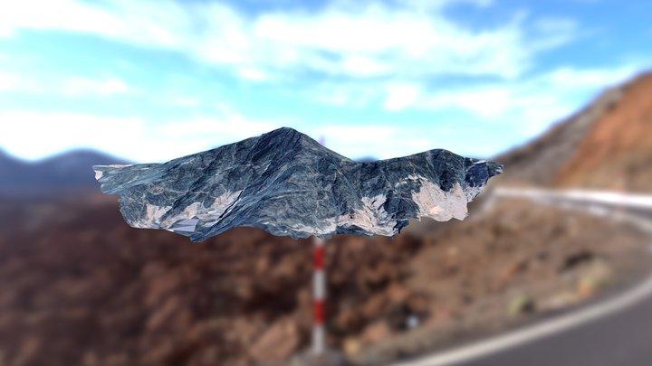 Jabal Maqla, Al Lawz Mountain Range — Mt. Sinai? 3D Model