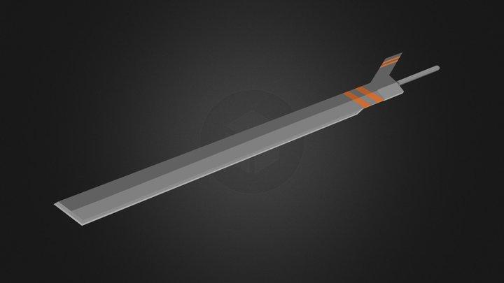 Sci- FI Sword 3D Model