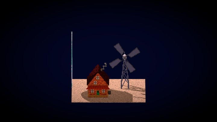 House of Courage the Cowardly Dog 3D Model