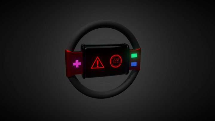 Stylized Steering Wheel 3D Model