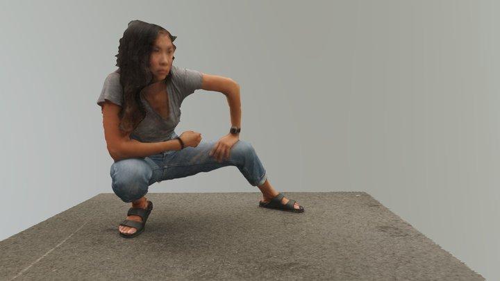 Lara crouch 3D Model