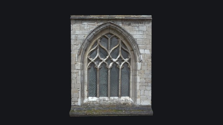 Gothic Style Medieval Church Window v.2 3D Model