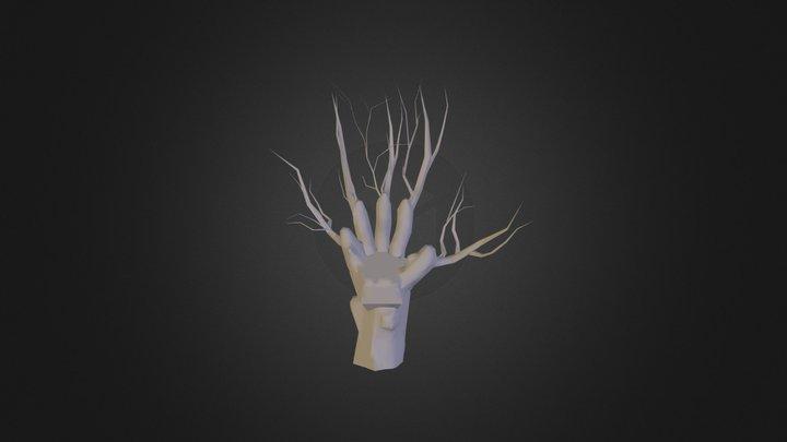 Hand Tree 3D Model