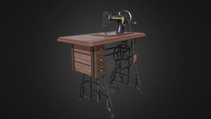 Willoughsby Sewing Machine 3D Model