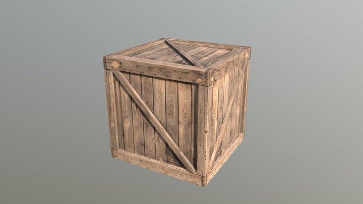 Cargo Wooden 1 3D Model