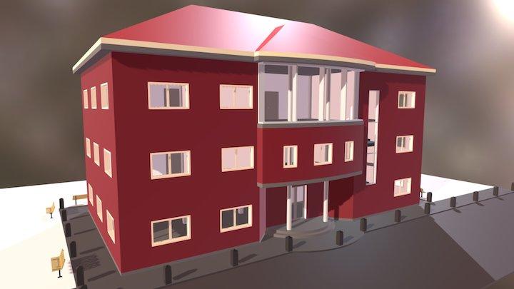 """Edificio """"Bata""""   Joaquín Rubio 3D Model"""