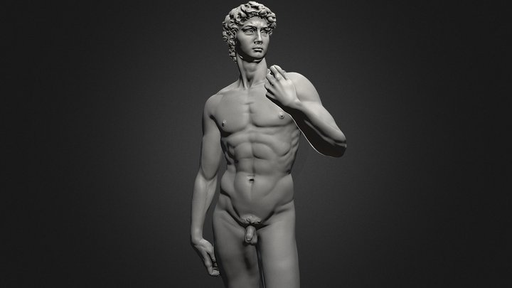 3d Printable David Statue by Michelangelo 3D Model