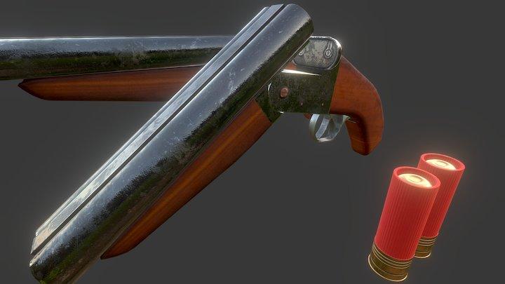 Sawed Off Shotgun 3D Model