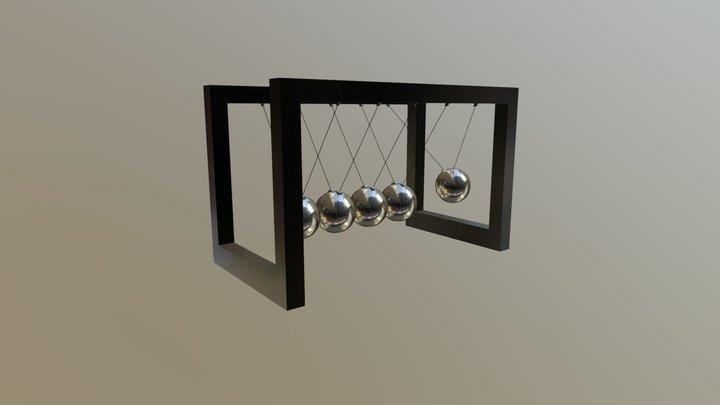 Newtonian Pendulum 3D Model