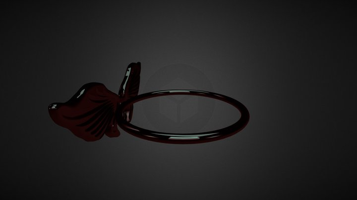 Angel Wing Ring 3D Model