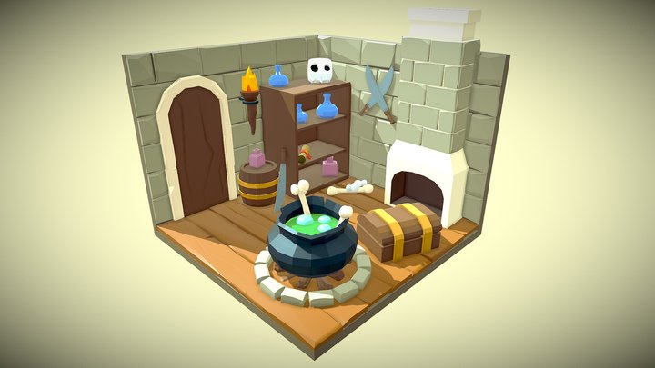 Witch's lair 3D Model