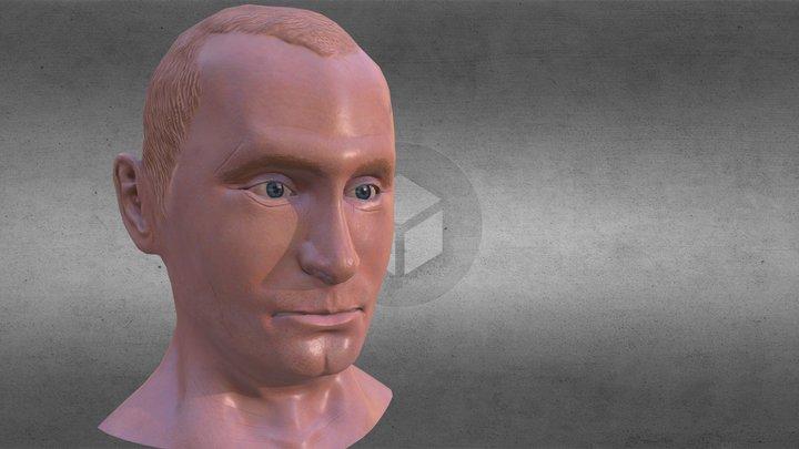 Vladimir Putin Portrait Bust 3D Model