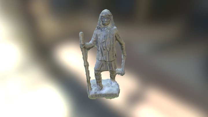 Native American Kinder Egg Figurine 3D Model