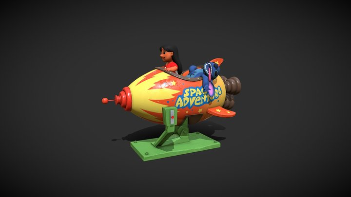 "Animated Ship from ""Lilo and Stitch"" (Disney) 3D Model"