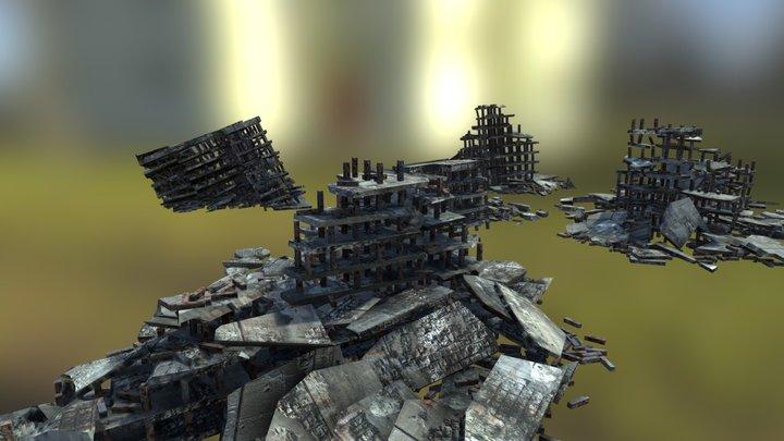 City Ruins Environment 3D Model