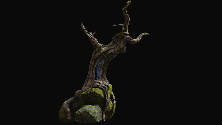 Old Magic Tree 3D Model