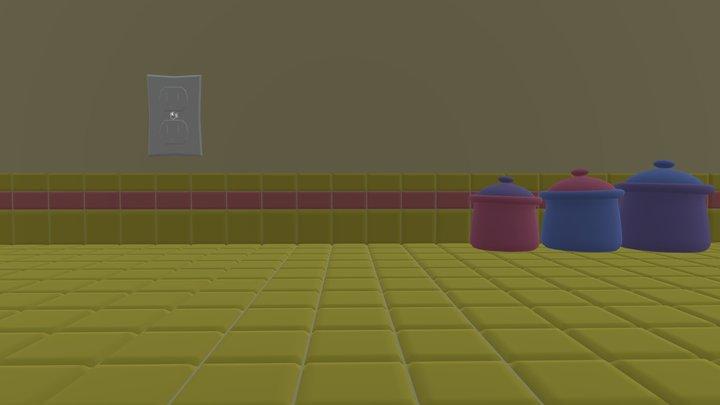VeggieTales Kitchen Countertop (2000s) 3D Model