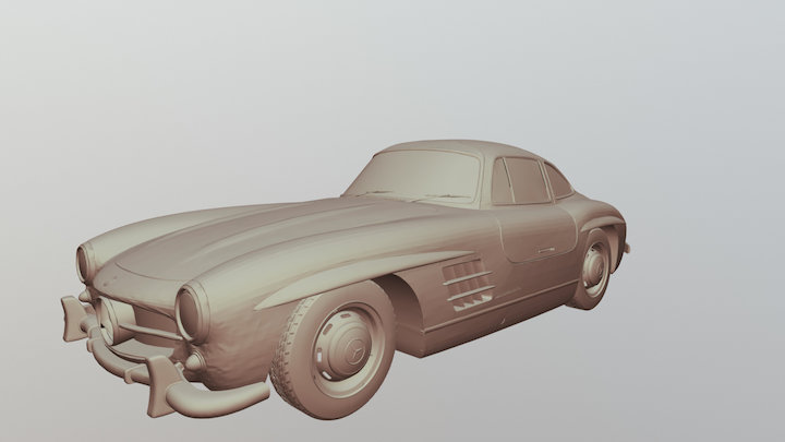 Mercedes- Benz 300 SL 3D Model